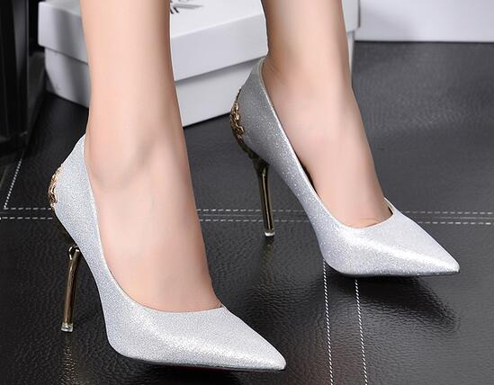 Online Get Cheap Silver Spiked Heels -Aliexpress.com | Alibaba Group
