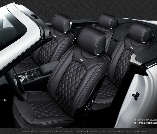 for Honda civic accord crv xrv Fit brand black luxury soft leather car seat cover front and rear Complete set