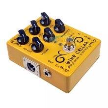 Caline CP 60 driver + di para pedais de guitarra, acessórios de mini pedal de efeito para violão, peças de uso para guitarra