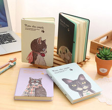 Korean Cute Kawaii Meow Star Creative Hardcover Notebook 2018 Planner Diary Book With Color Papers School