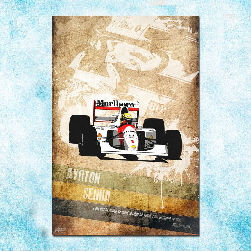 Ayrton Senna F1 Formula Grand Prix Art Silk Poster 13x18 24x32 inches
