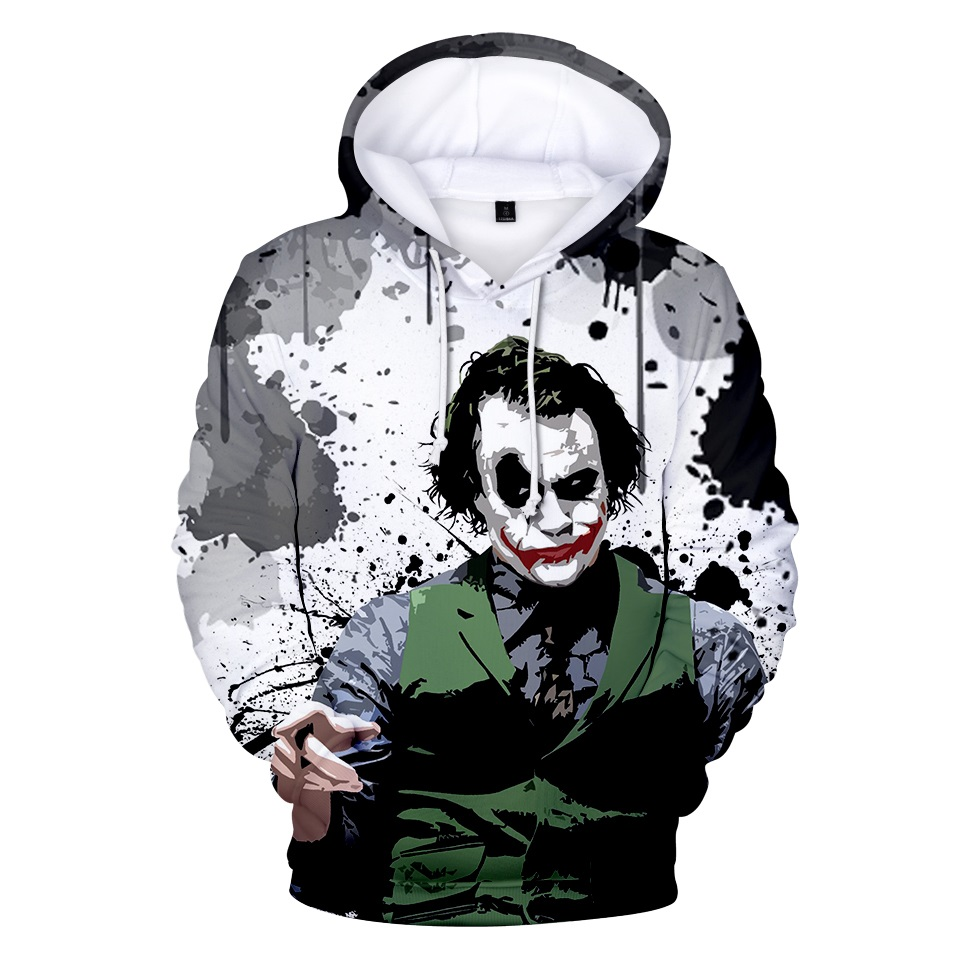 Joker 3D Hoodies Sweatshirt Hero Anime Women/Men Hoodies Sweatshirt Fashion Regular Hoodies Clothes Plus Size 4XL