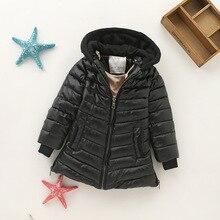 Детское пальто зимнее вельветовое детское кожаное пальто, длинное пальто с хлопковой подкладкой из искусственной кожи модные парки с капюшоном для детей возрастом от 2 до 10 лет