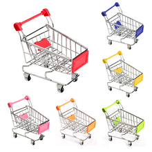 Mini carritos de compras de juguete para bebé, 8 colores, carrito de mano plegable de supermercado, Juguetes Divertidos, cestas de almacenamiento