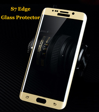 hot deal buy s7 edge film colored 3d curved full cover glass tempered film screen protector for samsung galaxy s7 edge g9350 g935 5.5