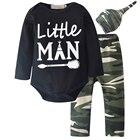 2018 Newborn Baby Boy Girl Clothes Set Bodysuits Army Green Pant Jumpsuit Bodysuit Children Clothing Boys Girls Costume