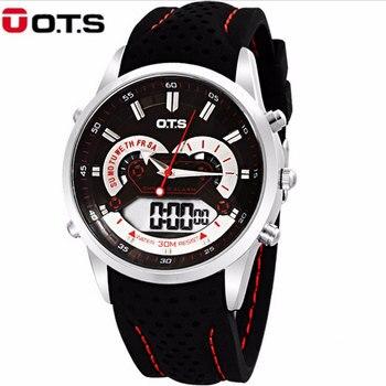 35a2cd3ff430 OTS Top marca de lujo hombres Relojes Led digital Reloj hombres moda  multifunción militar deportes reloj de cuarzo Relojes Hombre
