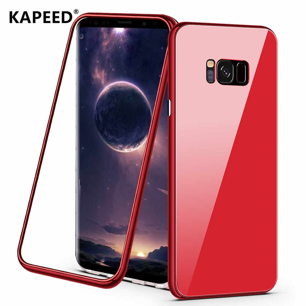99ee007a66 KAPEED Phone Case For Samsung Galaxy S8 S9 Plus Case Tempered Glass  Magnetic Cover Case For