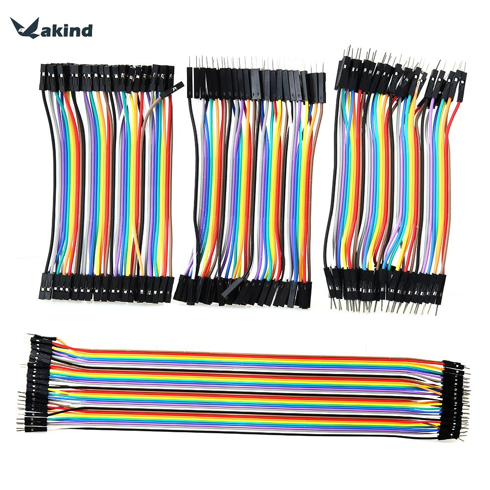 120pcs Ribbon Line Dupont Cable Solderless Flexible Breadboard Jumper Wires Cable Male to Male/ Female to Female/ Male to Female diy female to female dupont breadboard jumper wires black multi color 40 pcs 10cm