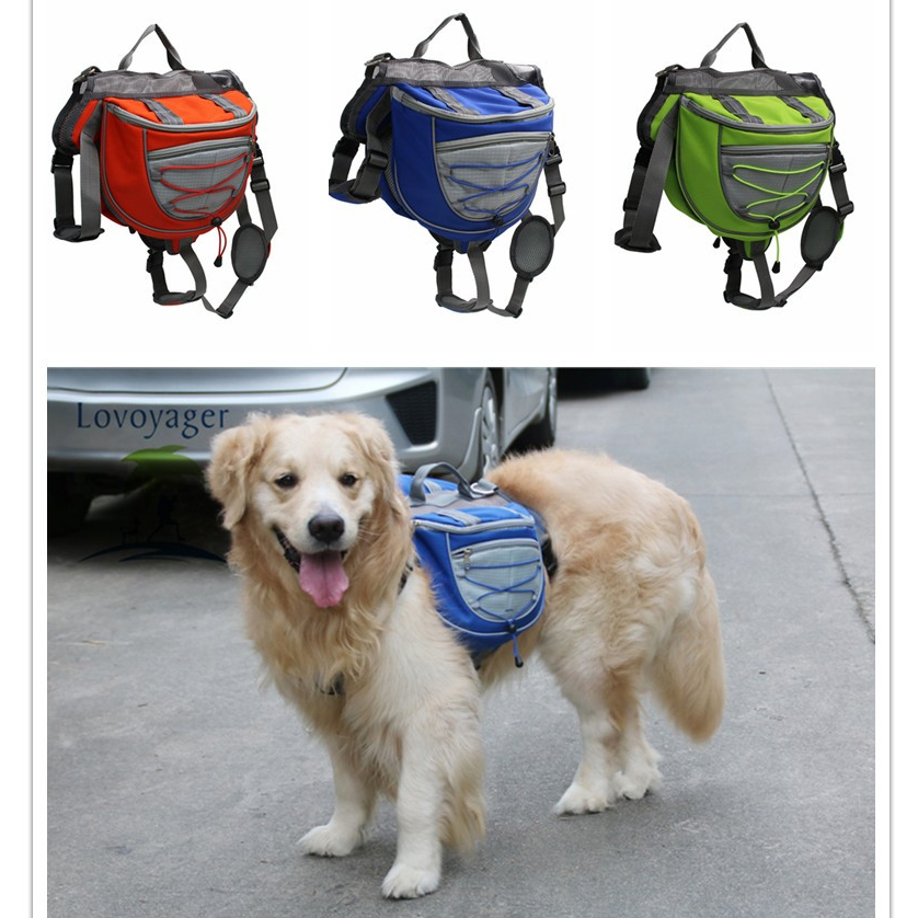 High quality pet accessories waterproof Adjustable nylon Pet  Backpack Dog saddle Bag For Large Dog hiking travelHigh quality pet accessories waterproof Adjustable nylon Pet  Backpack Dog saddle Bag For Large Dog hiking travel