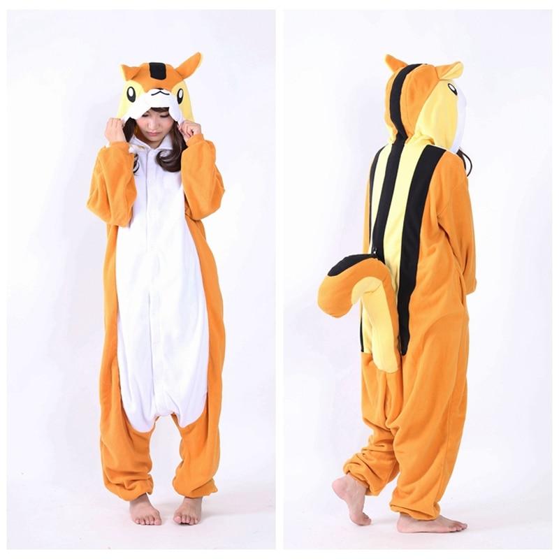 Best Cospaly Pijama In Chinese Market Online Fleece Hooded Animal Squirrel Pajamas Onsie ...