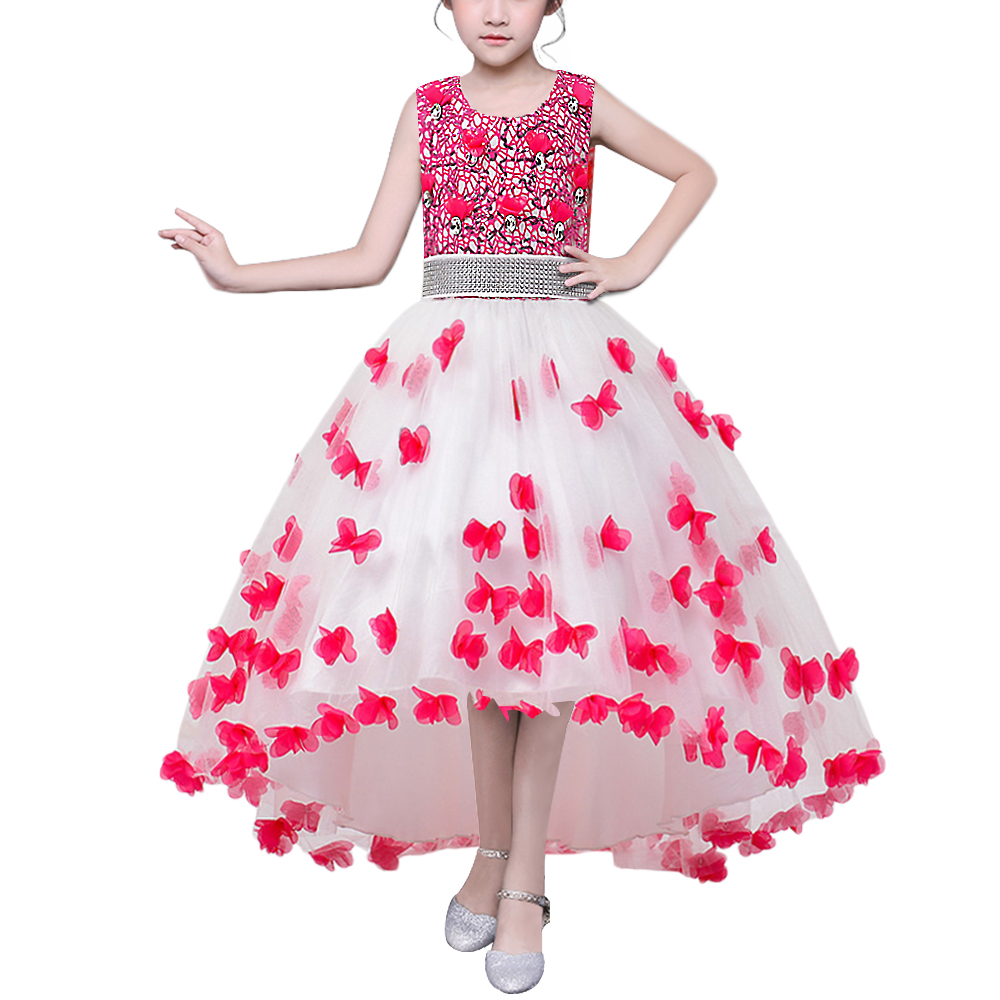 BAOHULU Princess Flower Girl Dress 3-14Y Teens Girls Dresses Vestidos Wedding Party Costume Children Clothes Birthday Clothing 2017 new girls dresses for party and wedding baby girl princess dress costume vestido children clothing black white 2t 3t 4t 5t