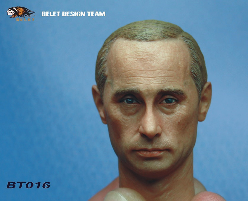 """ФОТО 1:6 scale male figure accessories russian president putin head shape carved for 12"""" action figure doll,not include body;clothes"""