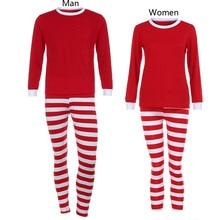 460e8a45e8 Harajuku mujeres hombre familia pijamas de Navidad Set blusa + Pantalones  familia trajes blusas mujer de