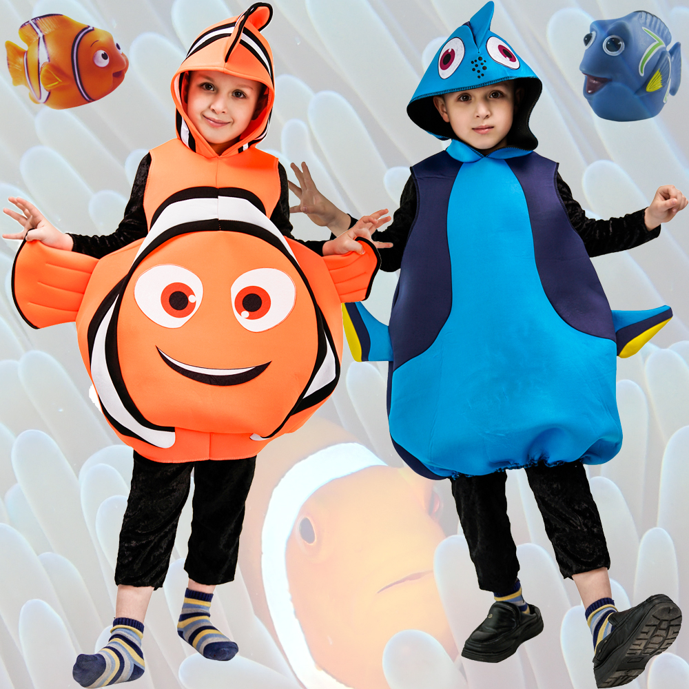 Lovely Child Clownfish From Cartoon Film Finding Nemo Boy's&Girl's  Fishy Halloween Christmas Cosplay Party Costume