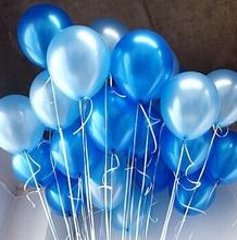 Kvalitní modrý latexový balón, velikost 10 palců, celkem 10 ks