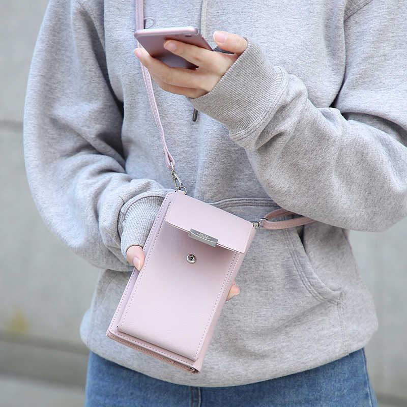 2019 nowych kobiet na co dzień portfel marki telefon komórkowy portfel duża posiadaczy kart portfel torebka torebka sprzęgła Messenger torba na ramię pasy torba