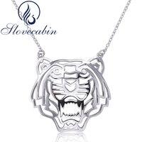 Slovecabin Original925 Sterling Silver Tiger Pendant & Vòng Đối Với Phụ Nữ Đồ Trang Sức Thời Trang 925 Bạc Animal Necklace Quà Tặng Tốt Nhất