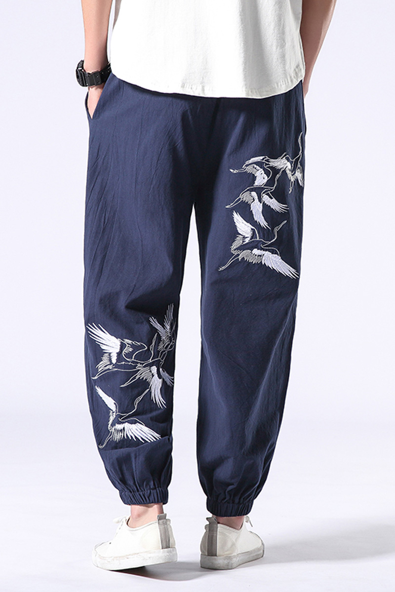 2020 Chinese Style Casual Retro Loose Large Carrot Pants Harlan Feet Pants Men's Clothing