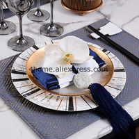 24K gold dishes plates sample room decor luxury food tray dishes gift