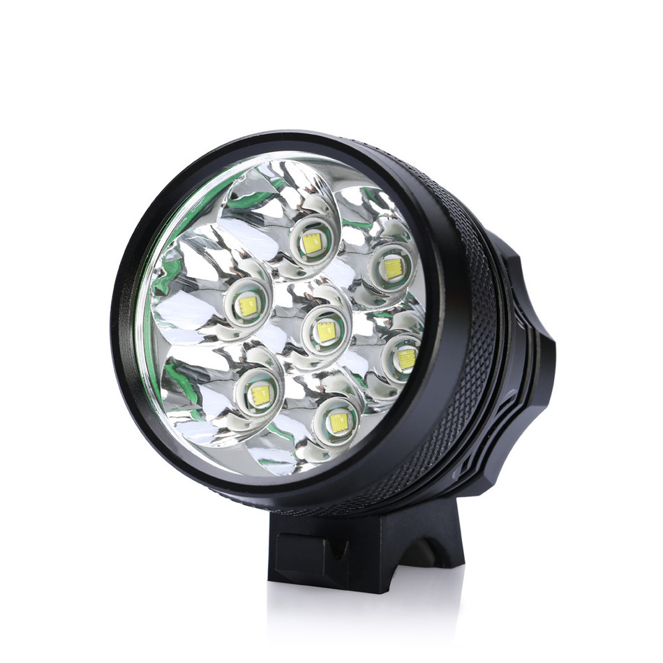 ՆՈՐ Հեծանիվ լույս 7x CREE XM-L T6 LED հեծանիվ - Հեծանվավազք - Լուսանկար 2