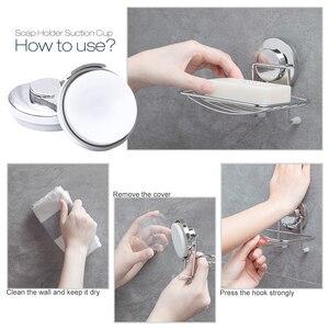 Image 3 - TAILI סבון מחזיק יניקה כוס ללא קידוח & נשלף קיר סבון מחזיק מקס להחזיק 11lbs מארגן & מטבח כרום