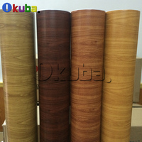 Oak Wood Grain Vinyl Roll PVC Car Furniture Decoration Stickers Color Change Self Adhesive Wood Vinyl Film With Air Bubble Free