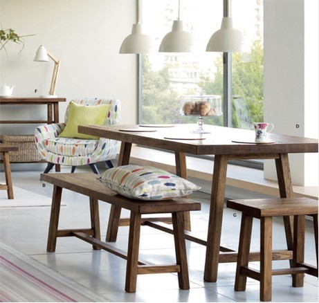 Ecological Solid Nordic American Country Pine Furniture Japanese Dining  Table Bench Sideboard Advanced Customization