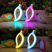 Leaf shape Sensor Light Night Light Marvel lamp Mini EU US Plug For dark night bedroom