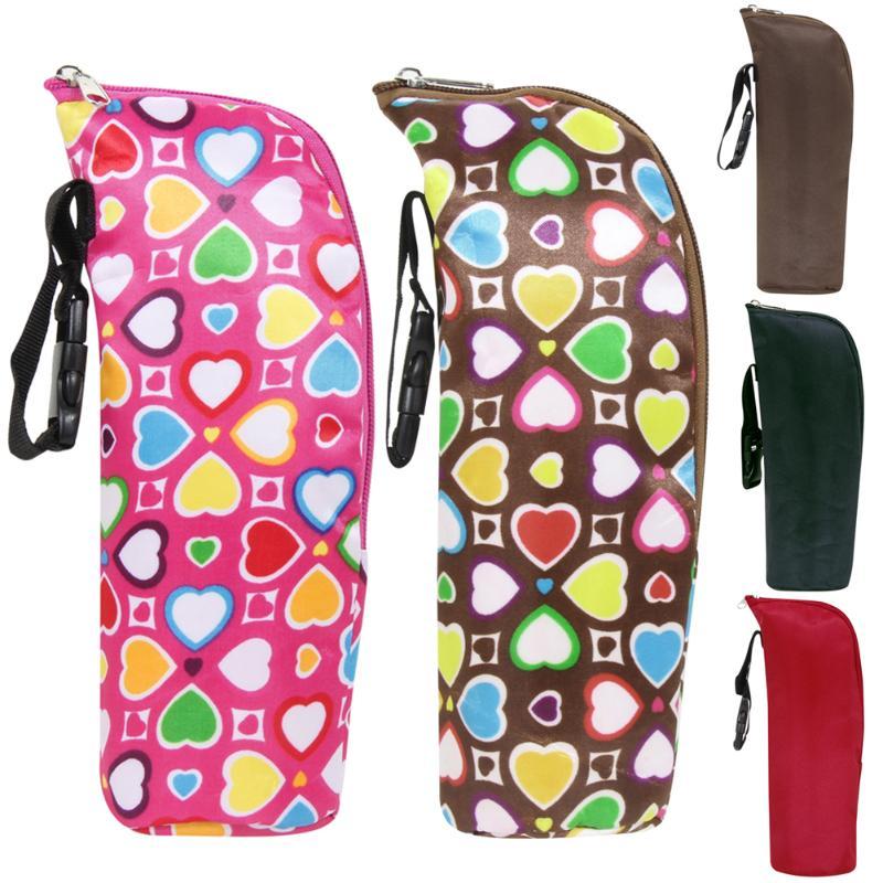 Baby Water Milk Warmers Bottle Holder Bags Portable Baby 350ml Feeding Bottle Insulation Bag Stroller Bottle Hanging Bag Accesso