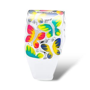 Image 3 - SANTUZZA bague en argent pour les femmes 925 en argent Sterling papillons anneaux pour dames cubique zircone anneau fête mode bijoux émail