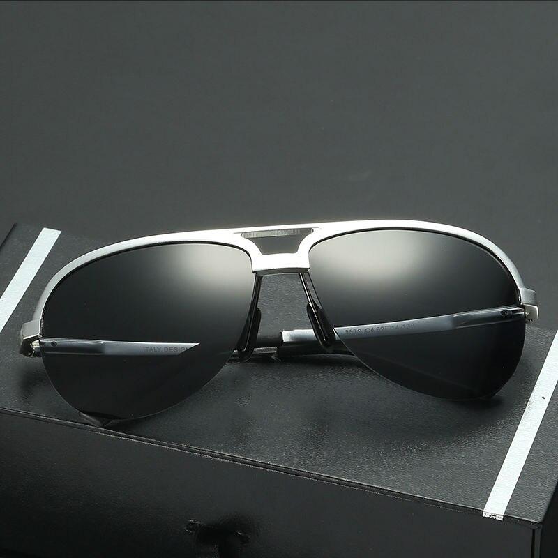LUFF Men s Al Mg Polarized Sunglasses Retro Vintage Sun Glasses Driving Comfortable To Wear SN8579