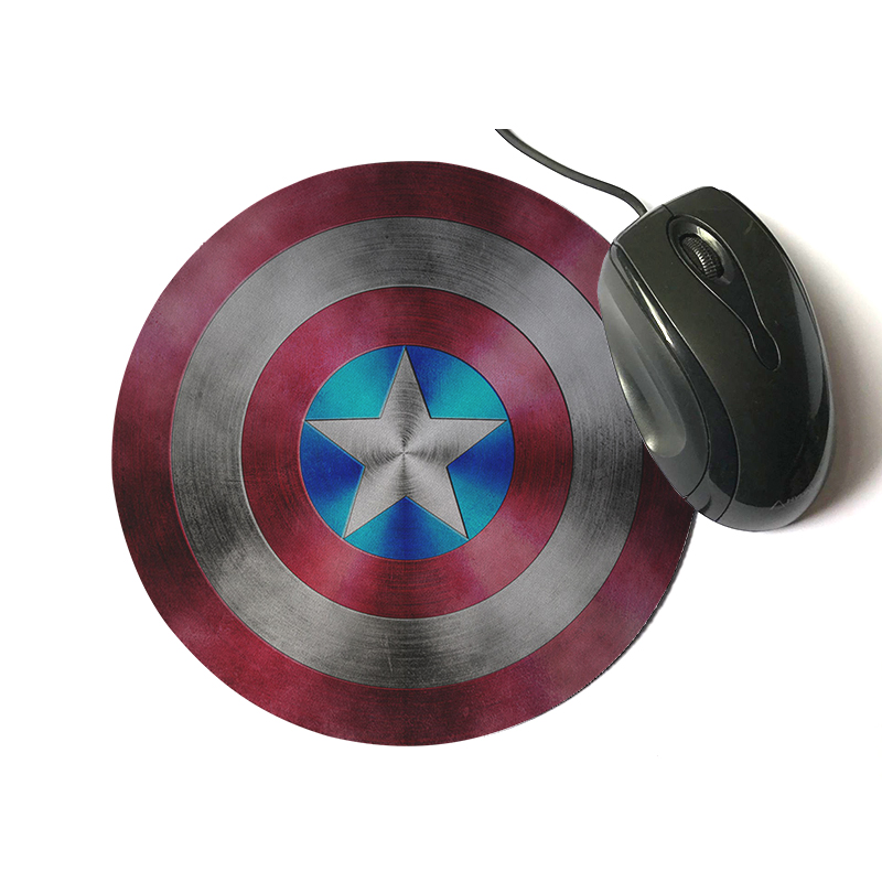 Captain America Design Painting Round Mouse Pad 8.66x8.66 inch Super Hero Series Computer Laptop Gaming Optical Mouse mat