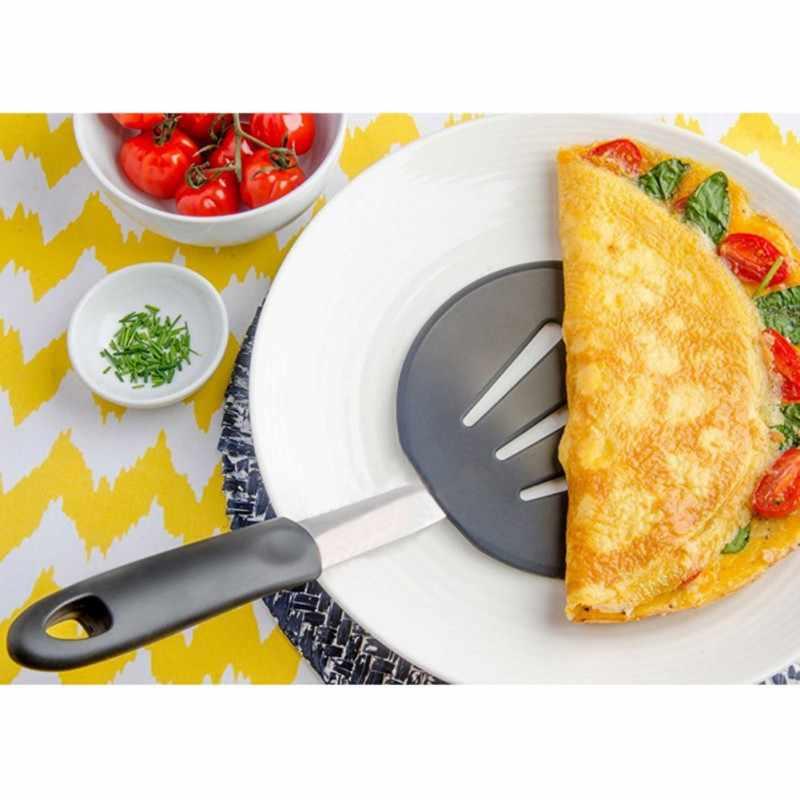 Пищевая силиконовая большая протекающая Лопата для стейка жареная дома сада