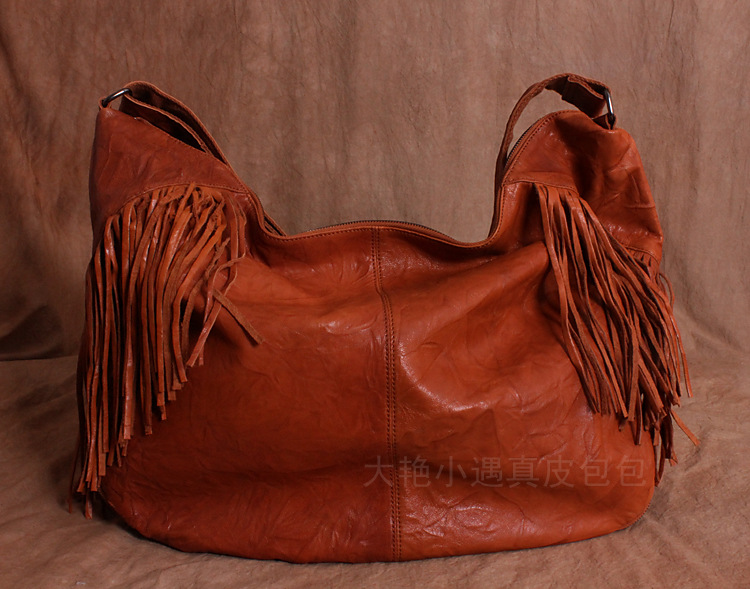 Free shipping Large vintage real leather bag tassels sheepskin big bag women messenger bags bucket bag size 61*40*17cmFree shipping Large vintage real leather bag tassels sheepskin big bag women messenger bags bucket bag size 61*40*17cm