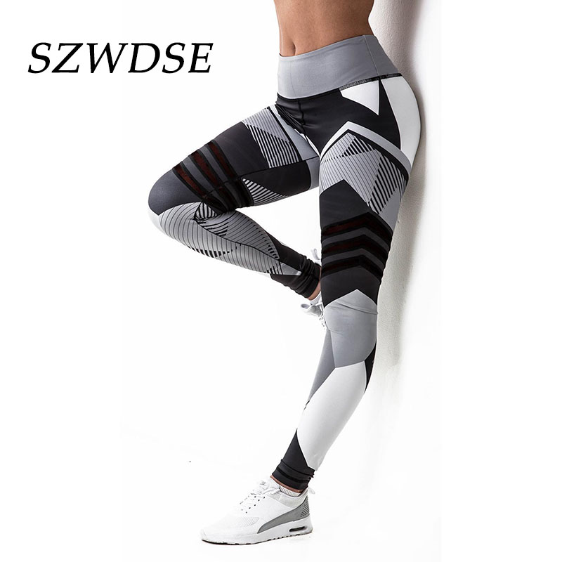 Autumn Sexy Women High-Waisted Striped Stretch Leggings Yoga Pant Running Pants Sports Fitness Jogging Slim Leg Quick-Drying deweyer yoga rally belt men ladies fitness stretch stretch force strength striped grass green 18 lbs