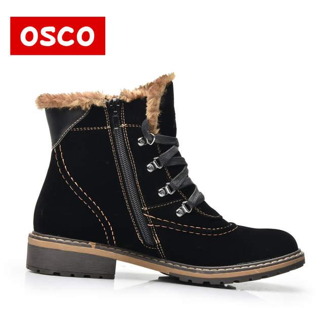 59cea80345f9e placeholder OSCO Marque Femmes Bottes Femme Chaussures D hiver Femme Chaud  Bottes de Neige De Mode
