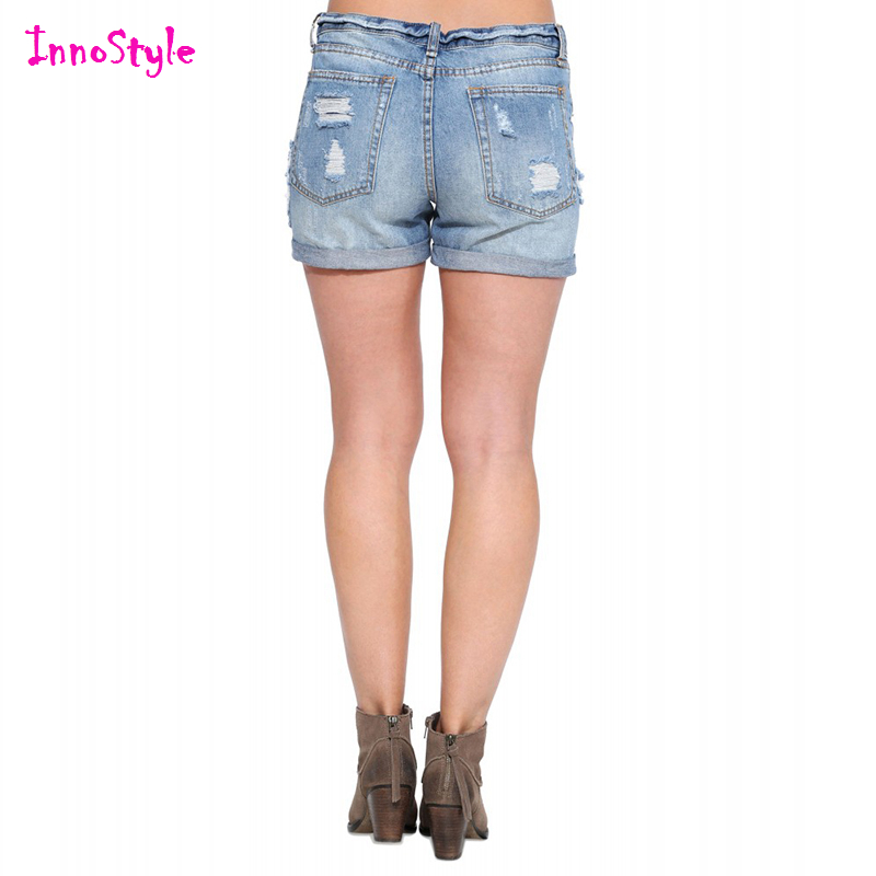 Aliexpress.com : Buy Blue washed denim shorts for women vintage ...