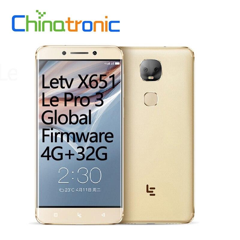 "Original LeEco Le Pro 3 Dual AI Letv X651 Global Firmware Android 6.0 FDD LTE Mobile Phone Deca Core 5.5""FHD 4G RAM FingerPrint"