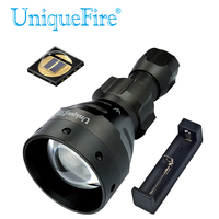 UniqueFire UF 1504 IR850nm Infrared Flashlight Led Torch f.Rechargeable Battery 18650 Tactical Flashlight Lantern+ Charger