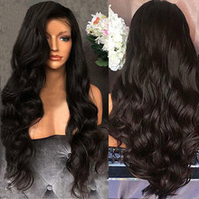 Women Curly Hair Wig Black Curly Wavy Brazilian Remy Human Hair Body Wave Lace Front Human Hair Wigs Party Hair Accessories(China)