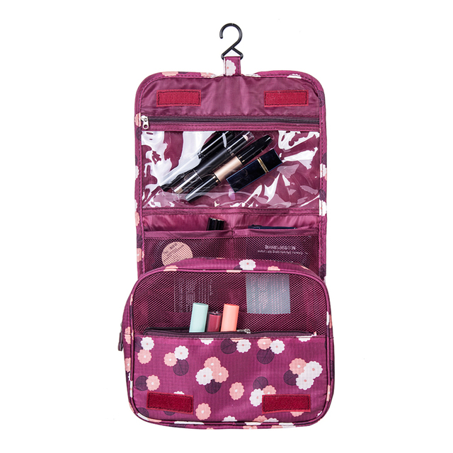 Women's Men's Hanging Cosmetic Bag Makeup Case Travel Organizer Wash Pouch Beauty Products Toiletry Storage Accessories Supplies
