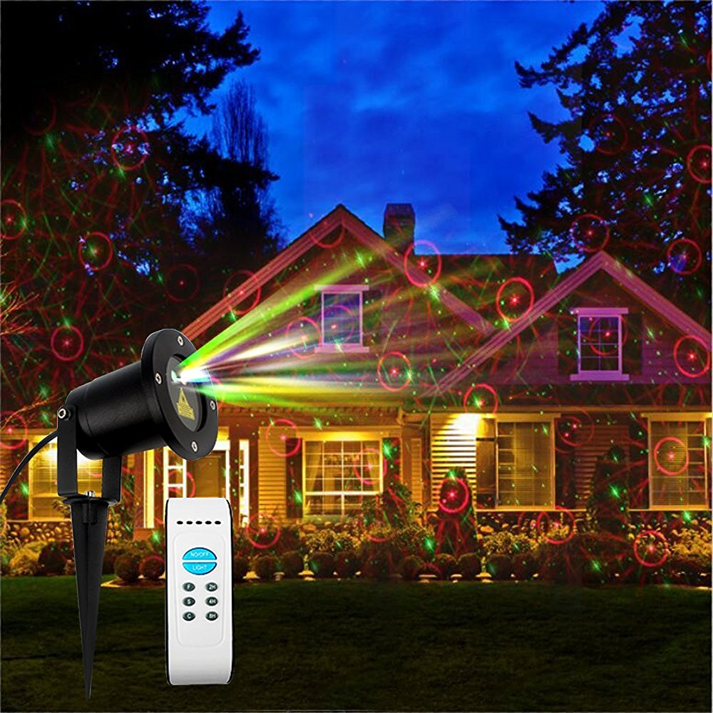 Details Of Cheap Outdoor Christmas Laser Lights Christmas: Laser Light Waterproof Moving Red&Green Romantic Laser