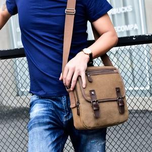 Image 1 - Hot Fashion Canvas Men Shoulder Bags Vintage Messenger Crossbody Bags for Men Satchel Big Capacity Casual Tote Bag Men Handbag