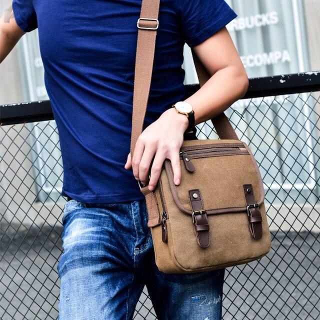Hot Fashion Canvas Men Shoulder Bags Vintage Messenger Crossbody Bags for Men Satchel Big Capacity Casual Tote Bag Men Handbag