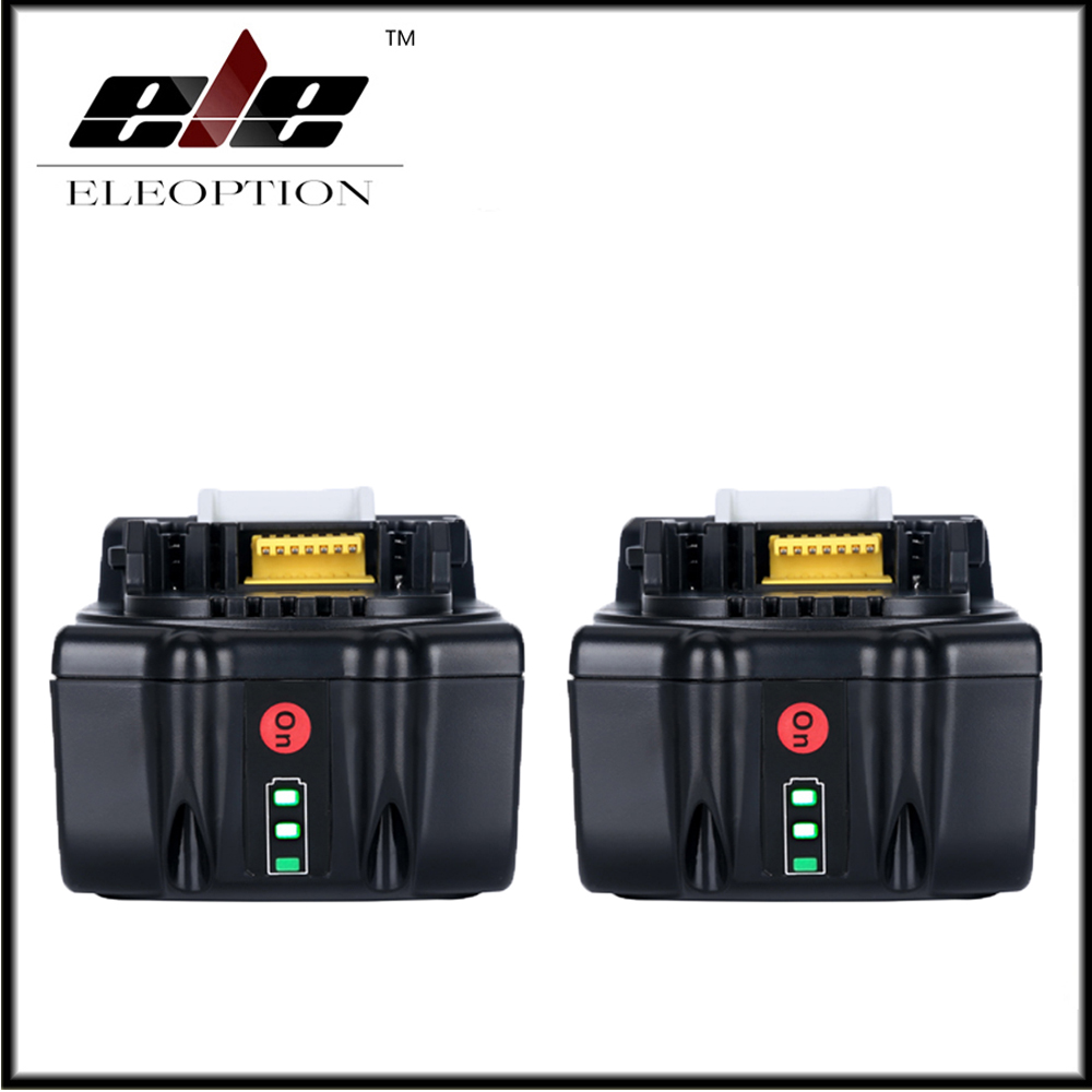 2x 18V Full 5000mAh Battery with LED Indicator for Makita LXT Lithium-Ion Power Tools 194205-3 BL1830 BL1850 BL1840 power tool battery 18v 3000 mah lithium bl1830 for makita bl1830 18v 3 0a 194205 3 194309 1 electric power tool t0 05