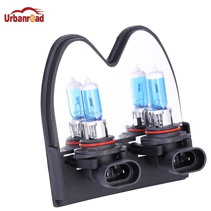 Urbanroad автомобильный светильник, 2 шт., 9006 HB4, галогеновая автомобильная лампа, супербелая, 12 В, 55 Вт, 6000 К, парковочный светильник для стайлинга ...