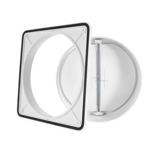 Image 3 - Hon ve Guan 150mm için 180mm çift kanatlı taslak engelleyici Backdraft damperi için Inline aspiratör fanı geri taslak deklanşör ABS hava firar