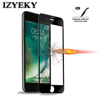 IZYEKY [2 Pieces] HD Clear Full Screen Protector Tempered Glass For iPhone 7 6 6s plus, 3D Glass for iPhone 6 plus Screen film