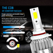 2PCS C6 Car Led Headlight Kit LED H4 LED H7 H11 H13 H1 H3 9004 880 9005 9006 COB 6000K 72W 8000LM Hi/Lo Beam Turbo Light(China)